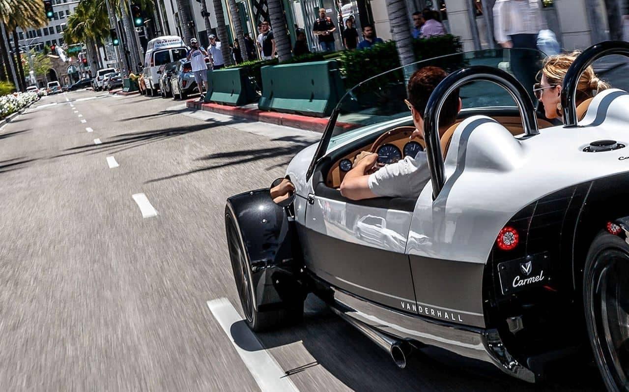 Vanderhallによる2シーターのオープンカー
