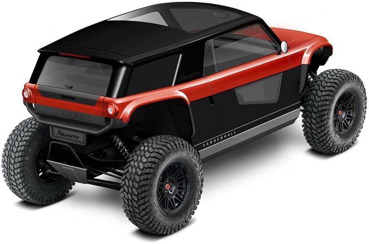 2シーターのオープンカーで知られるVanderhallから電動オフロード車「Navarro」