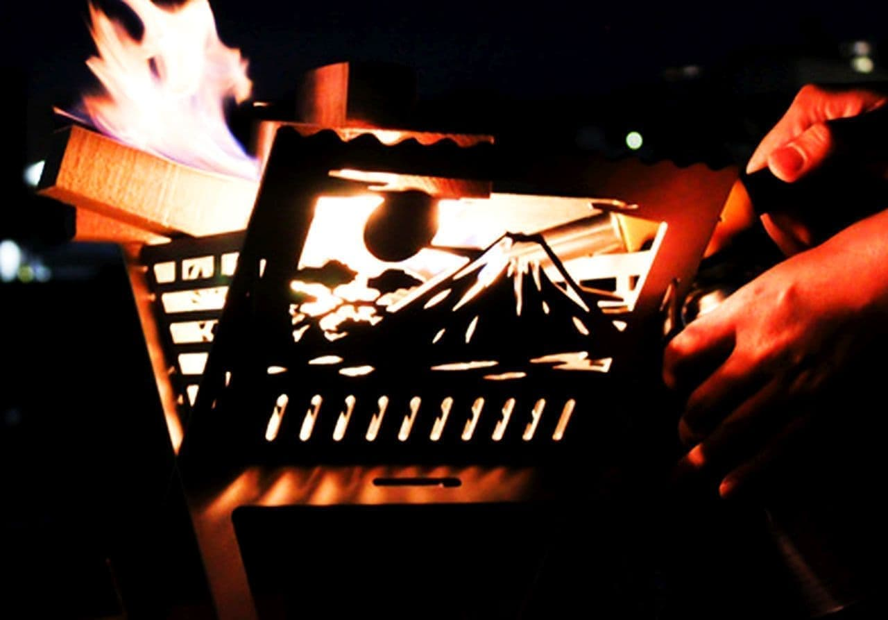 富士山柄の焚火台「和柄焚火台」Makuakeで先行販売中