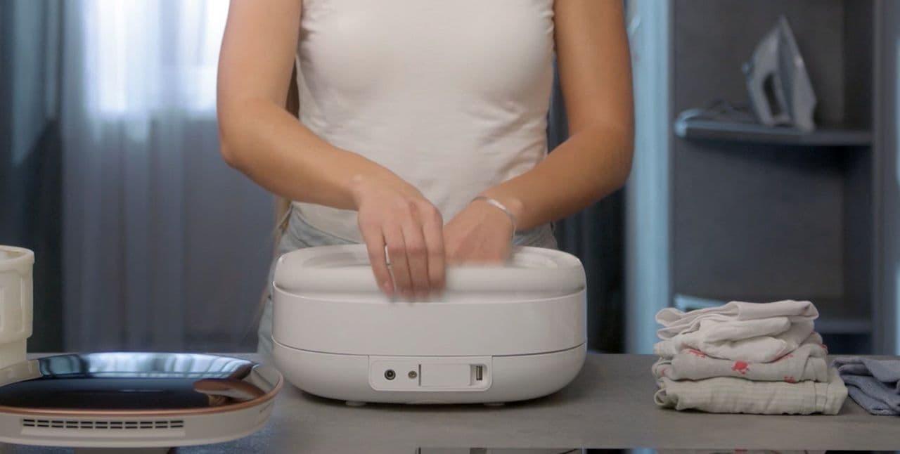 【キャンプ】折り畳み洗濯機「ウォータースピティア」GREEN FUNDINGに登場 - 乾燥機能付き!