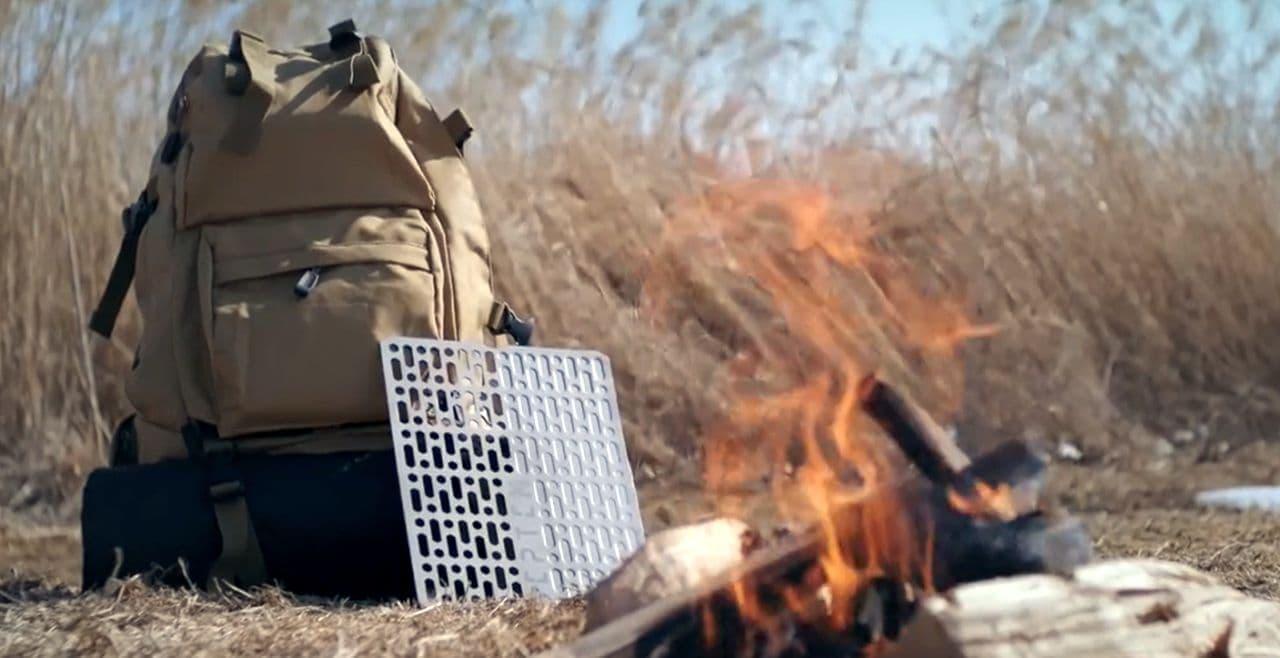 【キャンプ】携帯性を極限まで追求したグリル&ホットプレート「SEPTEM」