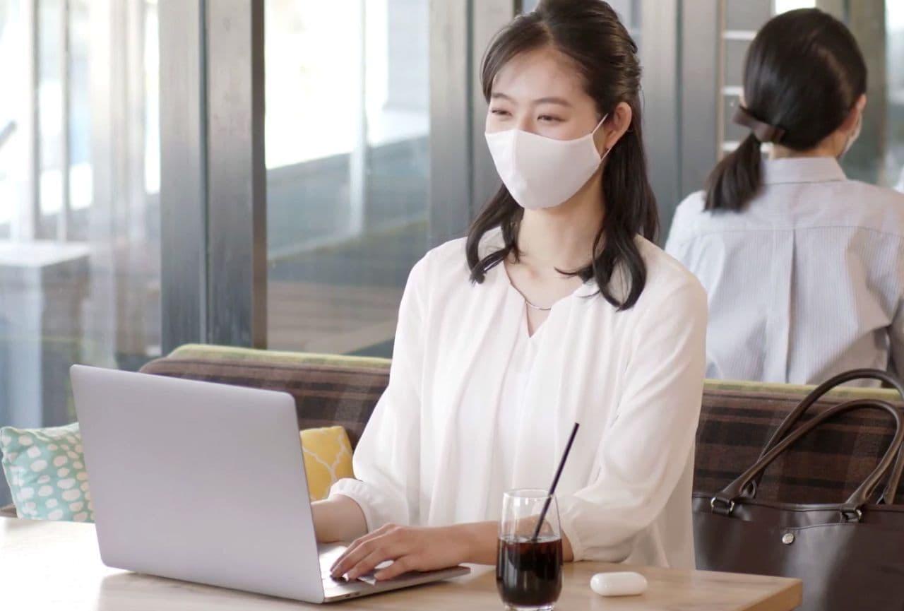 しまむら ホック付きの息がしやすいマスクFIBER DRY「呼吸のしやすい2WAYマスク」発売