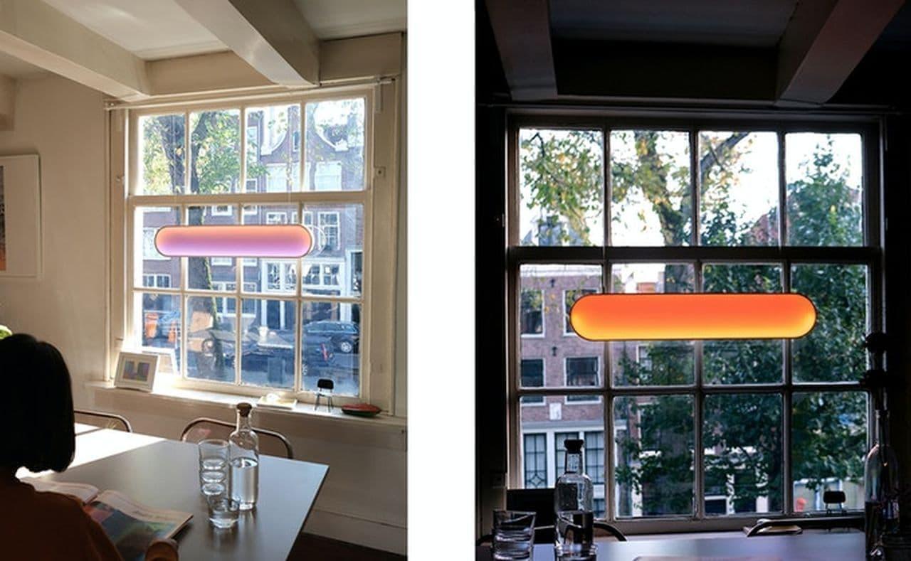 窓に設置するライト「Sunne」 昼間は太陽光で発電し 夜は室内を照らす