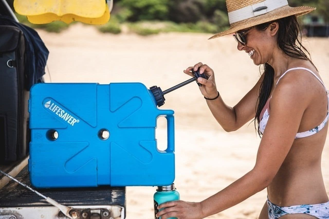 【キャンプにも災害時にも】ウイルス・細菌を除去する浄水タンク「LifeSaver Jerrycan」Makuakeに登場
