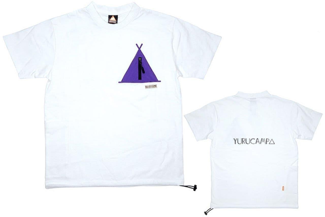 「ゆるキャン△」とWILDERNESS EXPERIENCEがコラボした「テントポケットTシャツ」