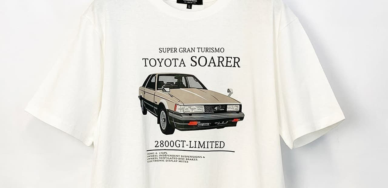 サバンナRX-7やハチロク GT-RデザインのTシャツ イオンで発売 ジクサーやSR400も