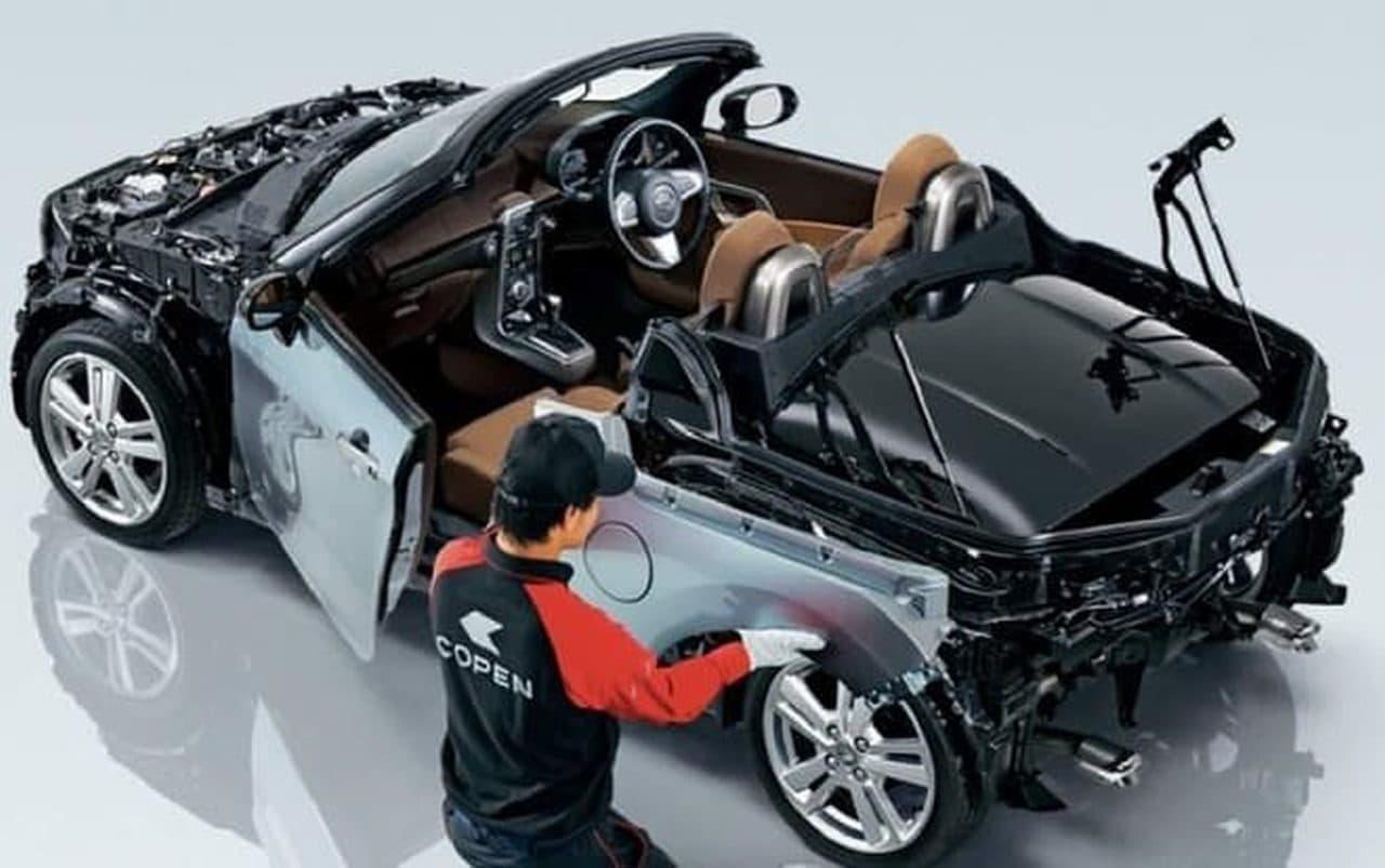 ダイハツのオープン2シーター「コペン」マイチェン - サイドミラー拡大&オートライト標準装備
