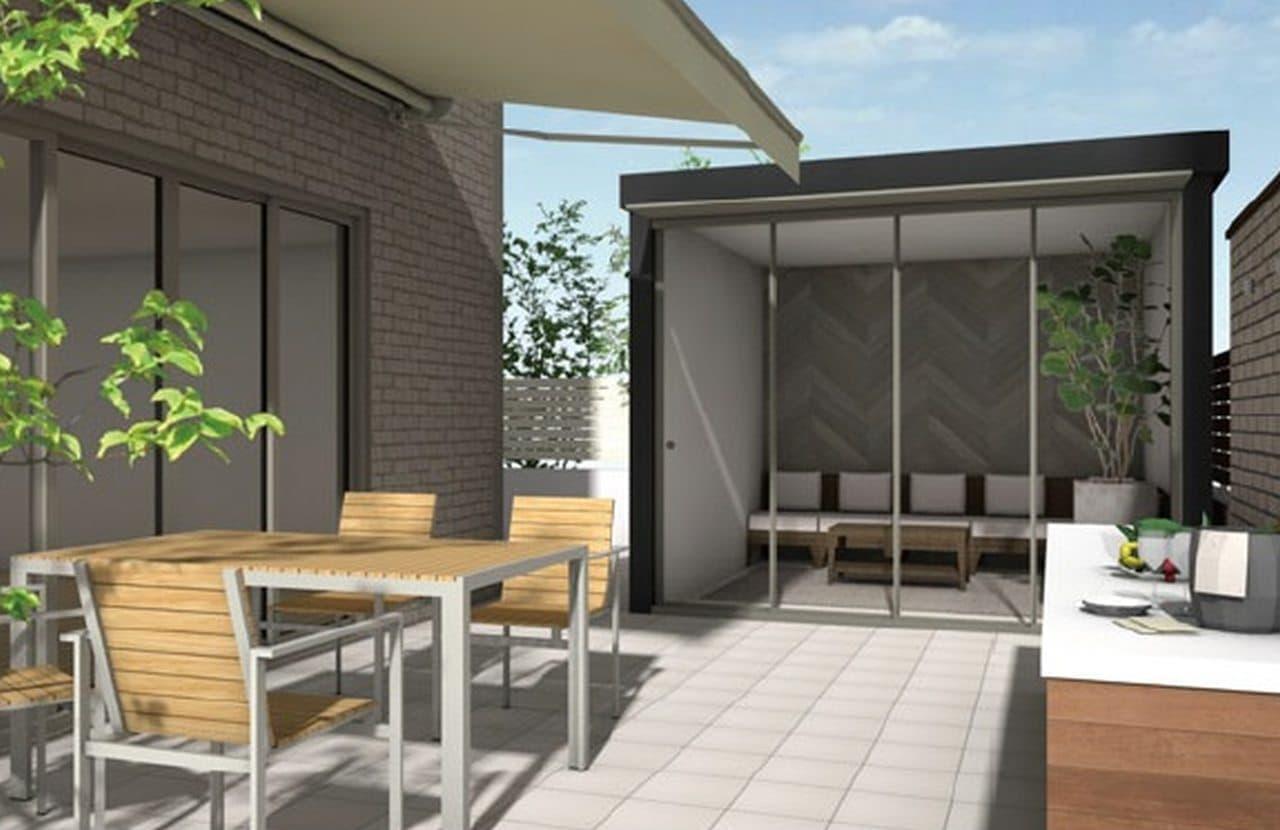 【テレワーク】庭に設置する小さな部屋「庭ハウス」 ガラス引き戸で屋外で仕事をしている気分に♪