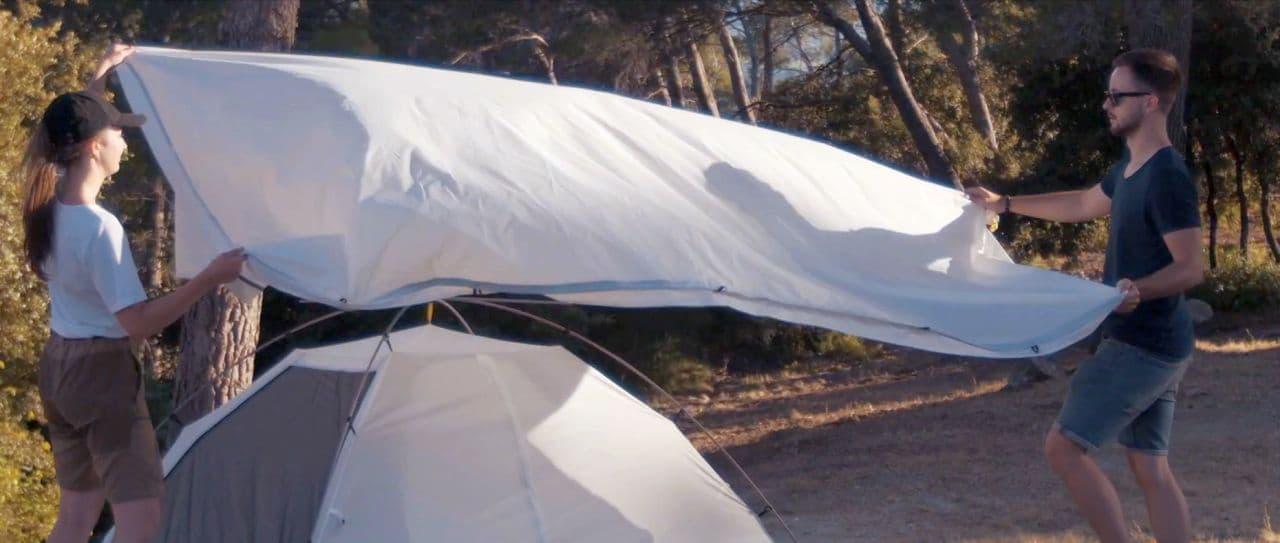 ペットボトルで作ったテント「ベルーガ」 東急ハンズ渋谷のPOPUP「Makuake SHOP」で期間限定販売