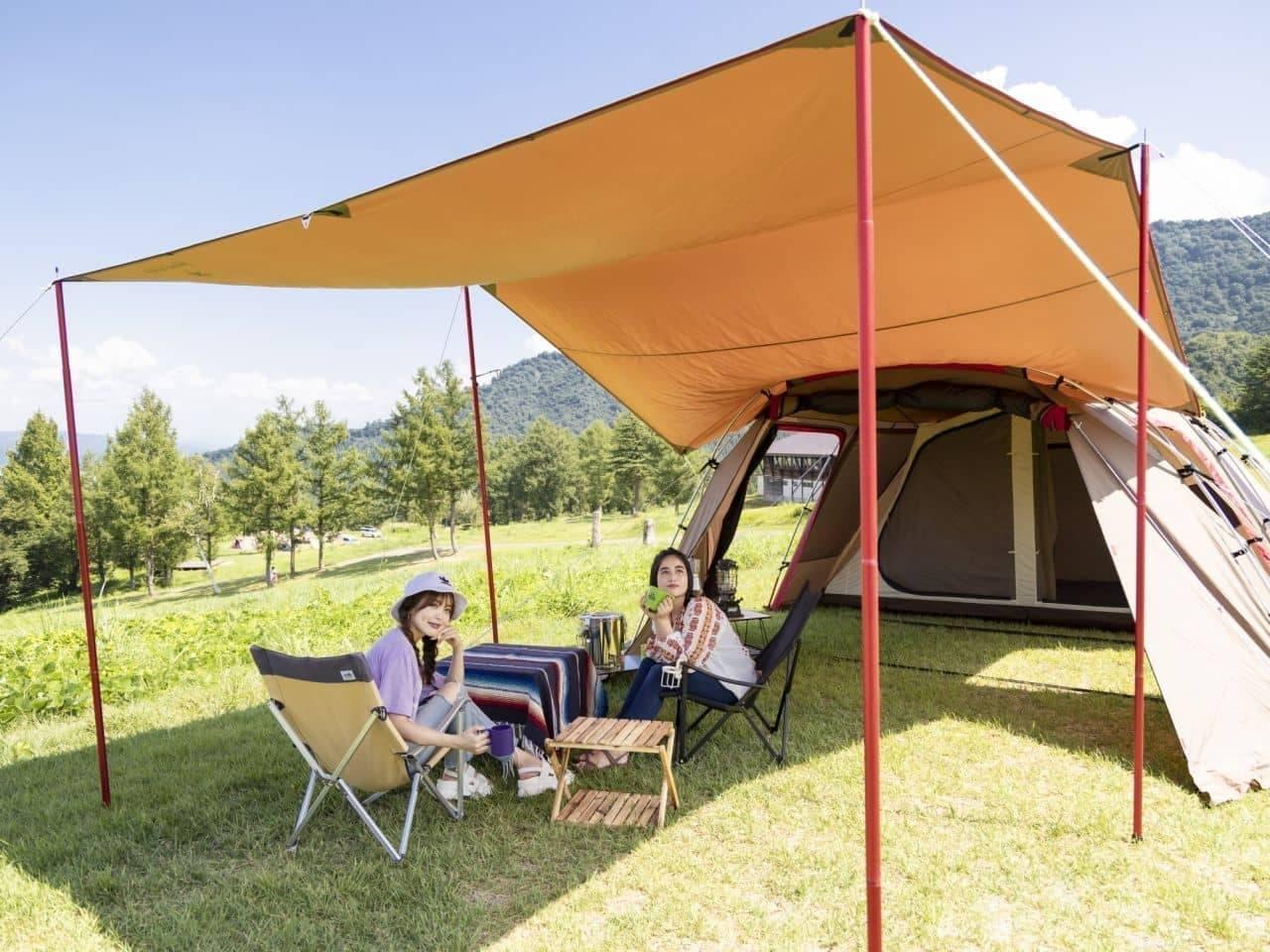 元ゴルフ場の天然芝を使ったキャンプ場「舞子高原オートキャンプ場」今年度は4月24日に営業開始