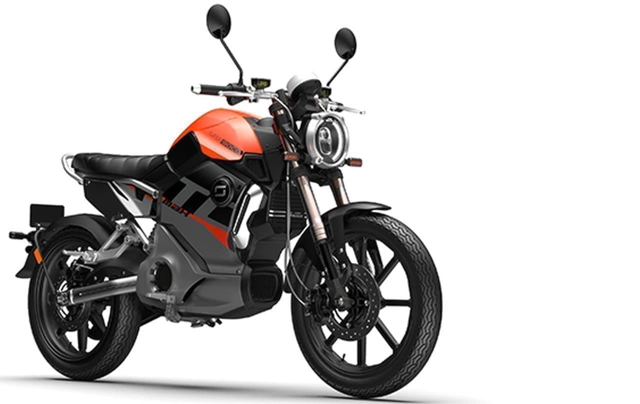 カフェレーサスタイルの電動バイク「TC MAX」に新色追加! 「ブラスオレンジ」「ゴールデンイエロー」「ナルドグレイ」の3色