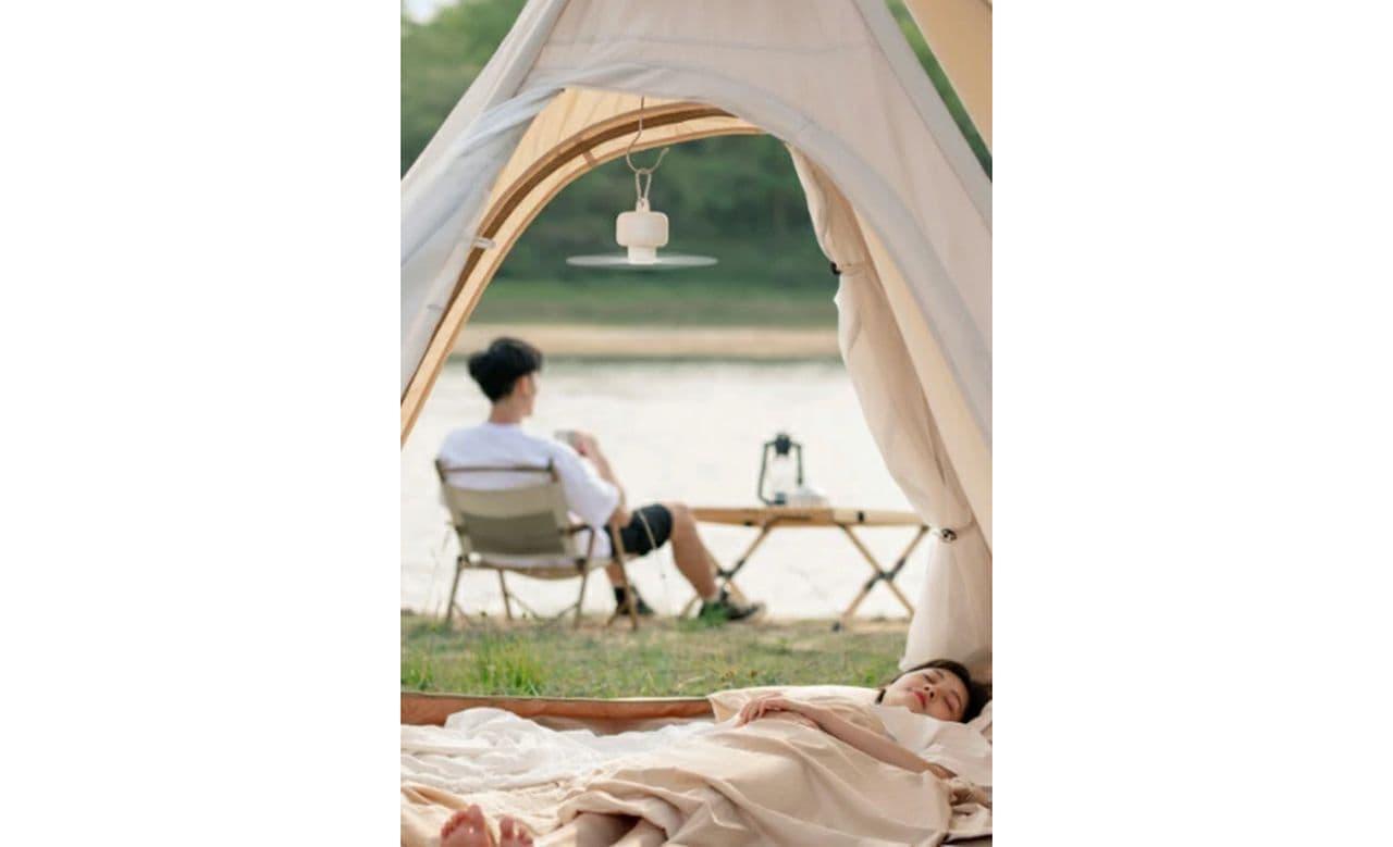 キャンプでテント内を涼しく!吊り下げ式の扇風機発売