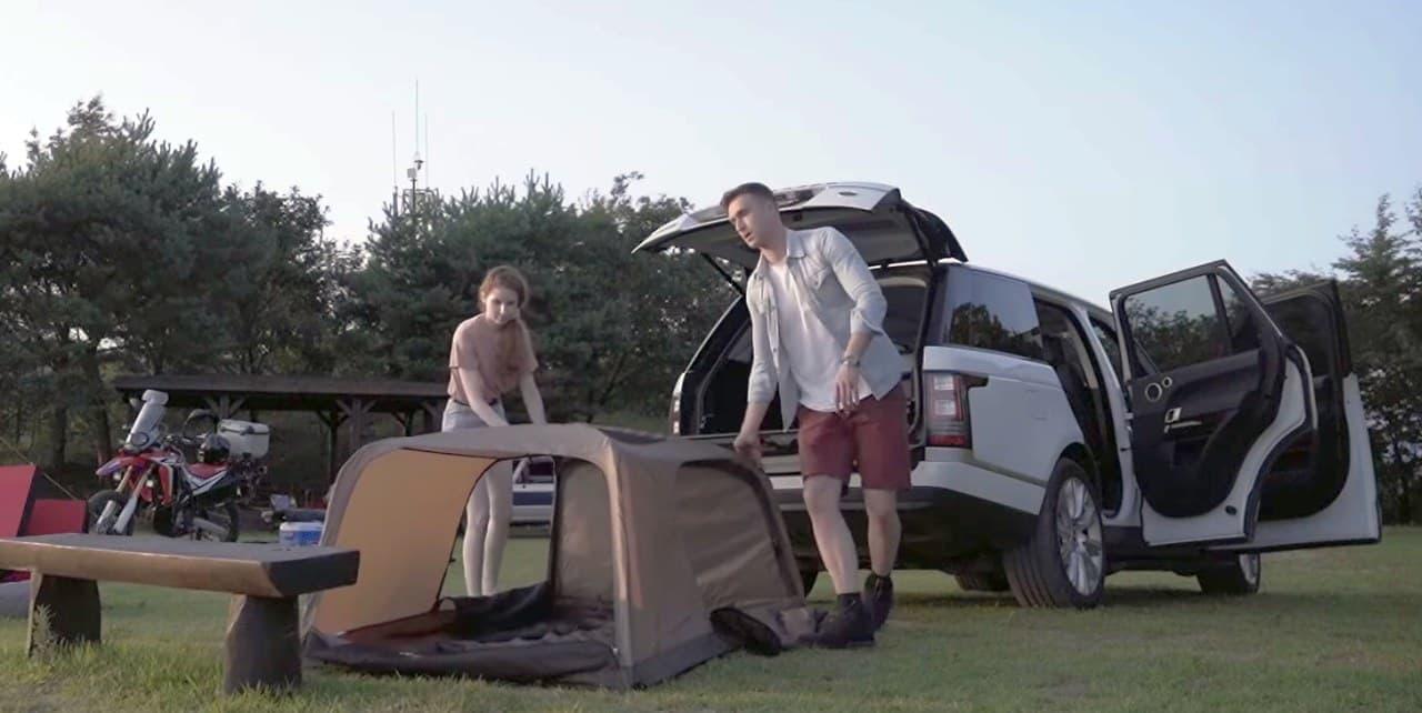 車内型テント「Wolf Launchテント」Makuakeに登場