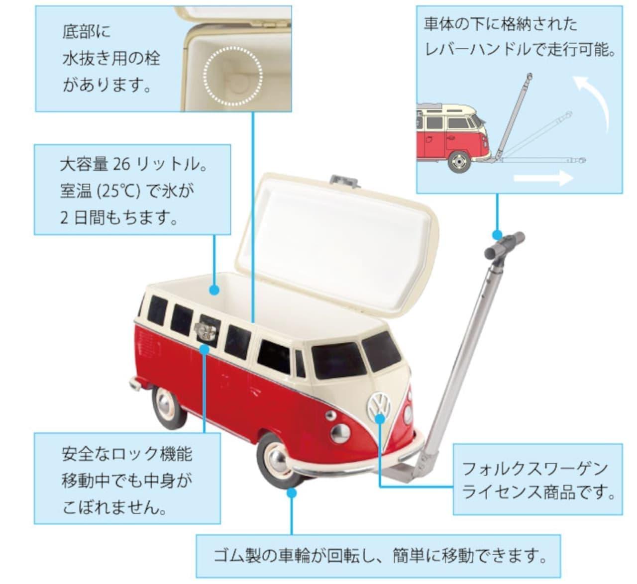 「VW T1型クーラーボックス」CAMSHOPから