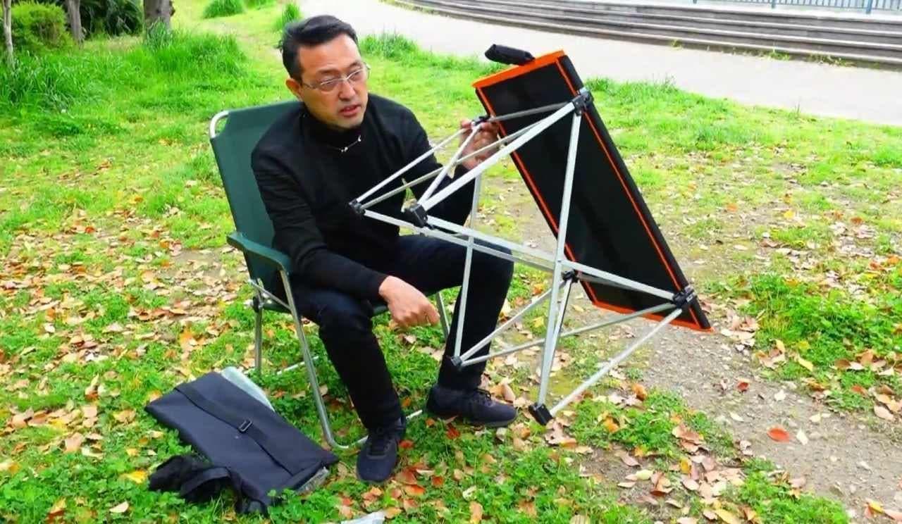 発電するキャンプテーブル「多機能ソーラーテーブル」Makuakeで販売中