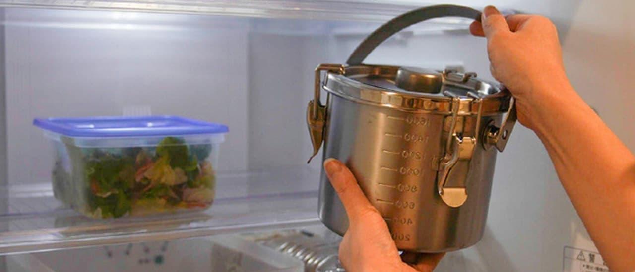 キャンプで給食気分!業務用の給食缶を家庭用サイズにした「給食缶ミニ」M