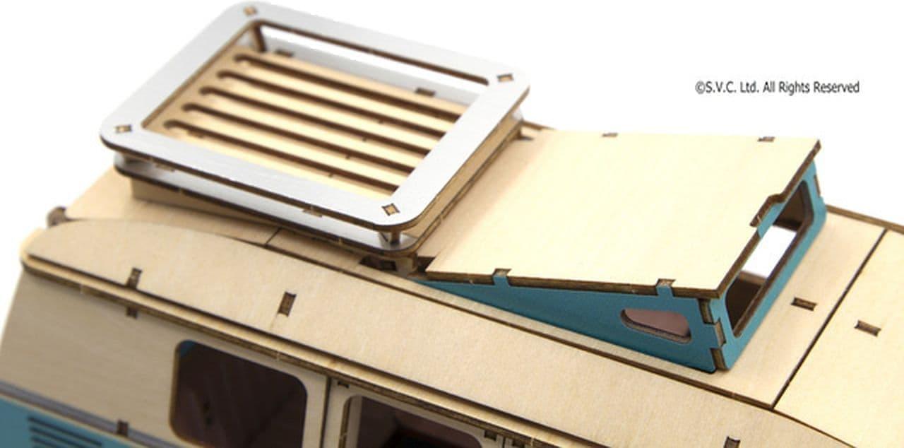 ワーゲンバスの1/18スケール木製パズル「ki-gu-mi Vintage フォルクスワーゲン T1 キャンパーバン」一般販売開始