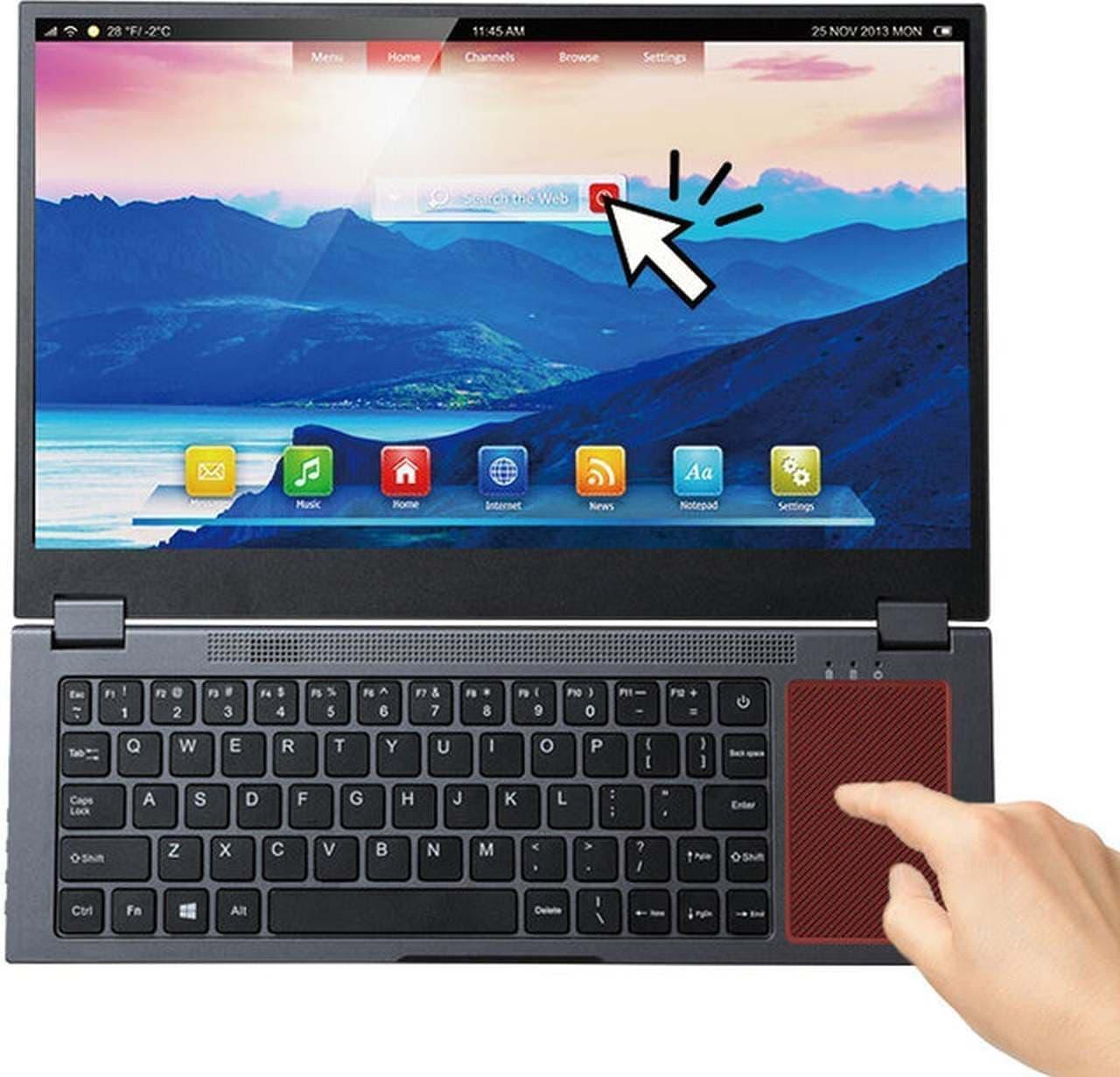 スマートフォン用のモバイルディスプレイ「7K140」Makuakeに登場 キーボード一体型で文字入力しやすい