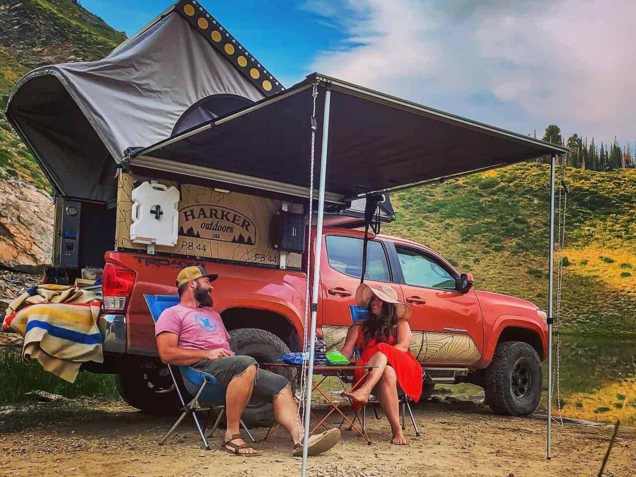 トヨタ「タコマ」が行ける場所そこが今日のキャンプ地Harker Outdoorsの「EDC」