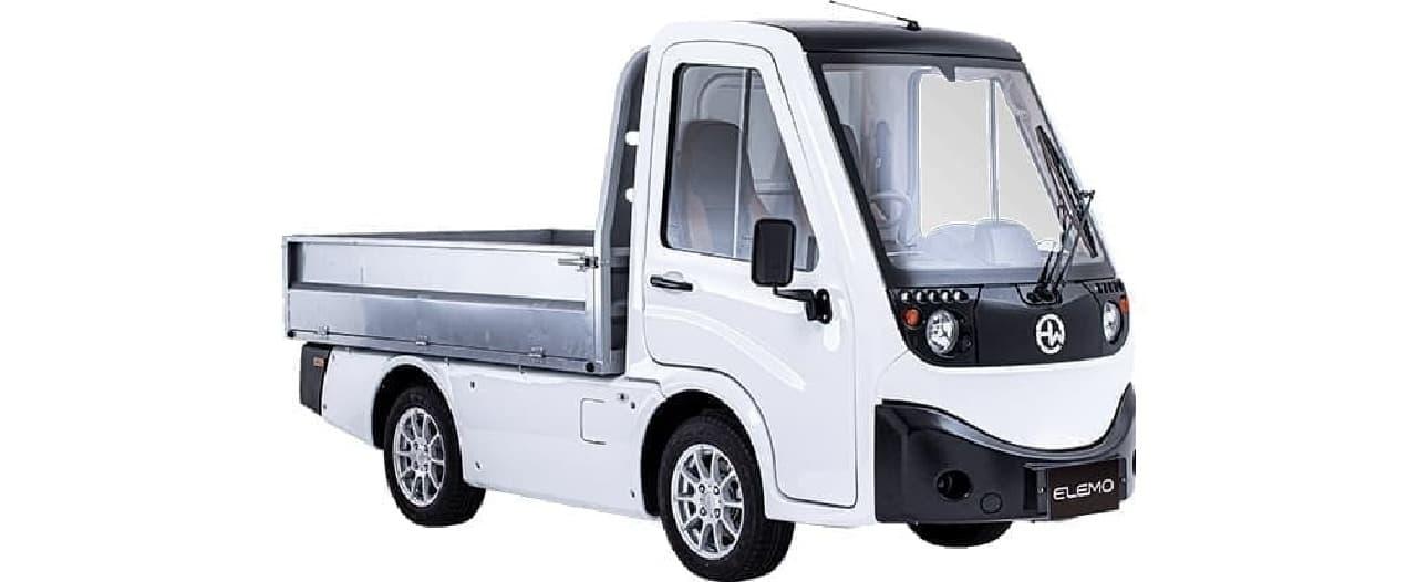 小さな電動商用バン「ELEMO」7月24日発売 3つの荷台オプションからビジネス形態に合わせてセレクトできる