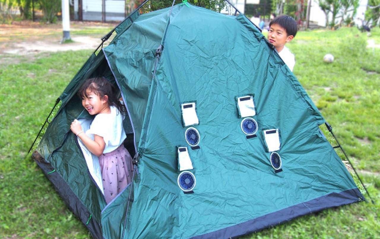 サーキュレーター付きで涼しいポップアップテント「Flow Tent」 Makuakeでの応援購入は7月16日まで