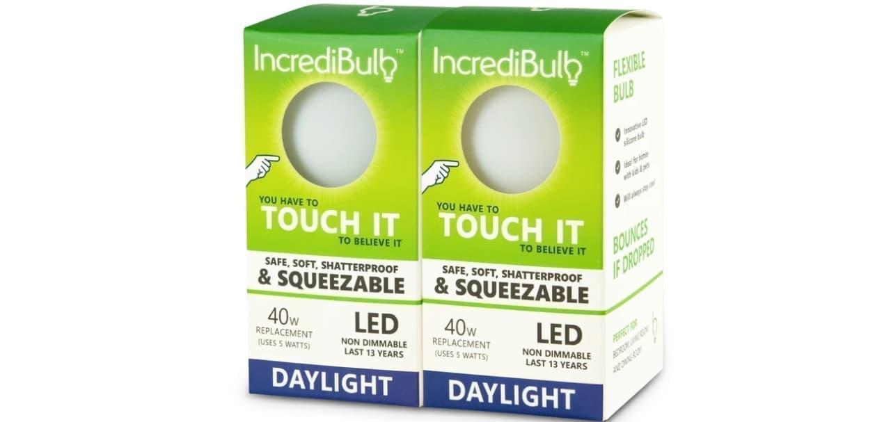 絶対割れない 熱くないLED電球「Incredibulb」