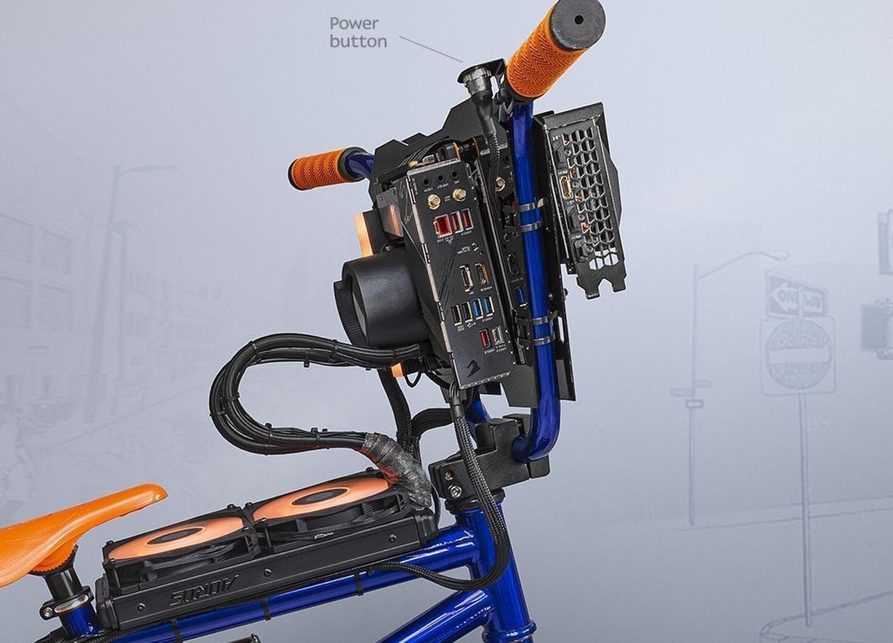 ゲーミングPCが搭載された自転車「Exo Giga Bike」