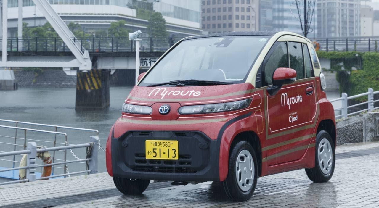 トヨタの超小型EV「C+pod」で横浜を観光する! 1時間単位でちょい乗りできる「ショートタイムレンタカーサービス」7月22日スタート