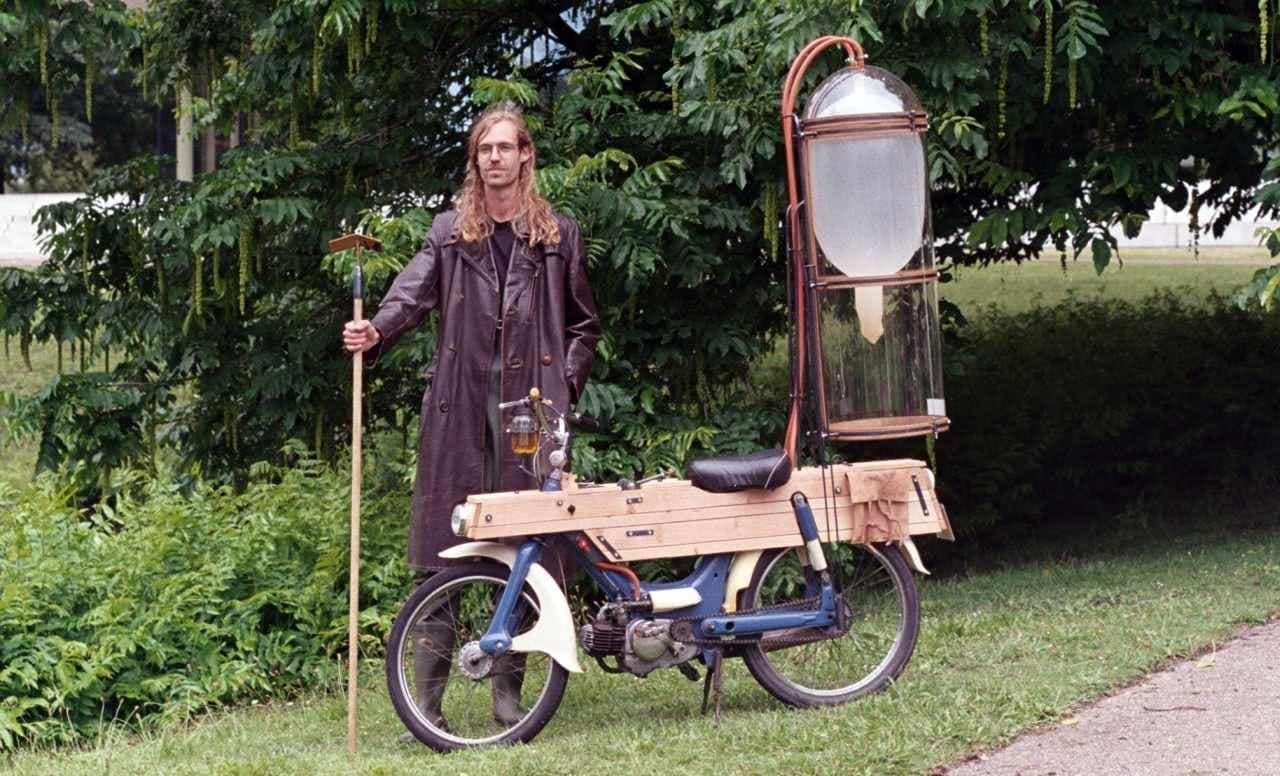ホンダ製エンジンを搭載したメタンバイク「Slootmotor」