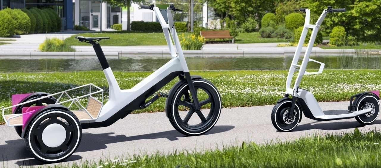 BMWが電動カーゴバイク「DYNAMIC CARGO」キックスクーター「CLEVER COMMUTE」コンセプトモデルを発表