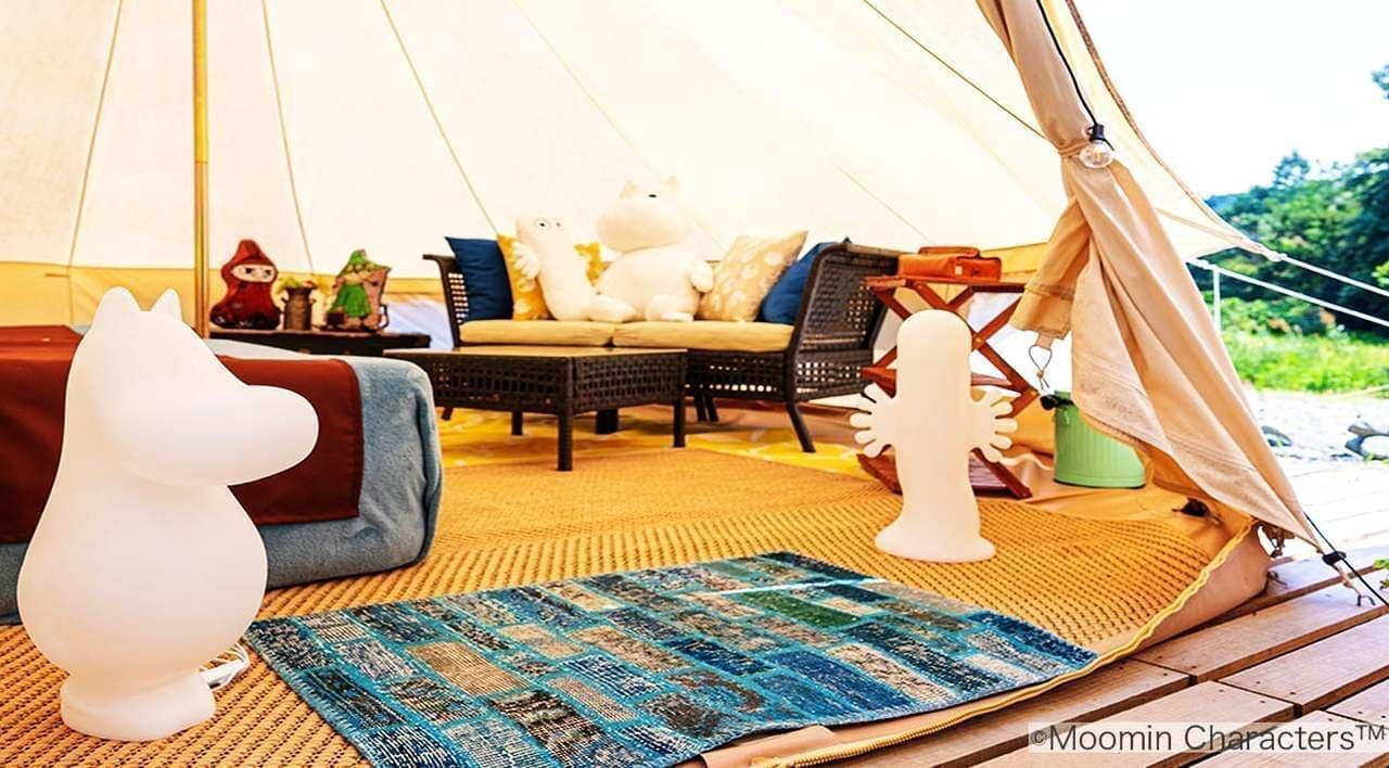 テントの中にムーミン!グランピングリゾートときたまひみつきちCOMORIVERに「ムーミンスペシャルルーム」8月7日オープン