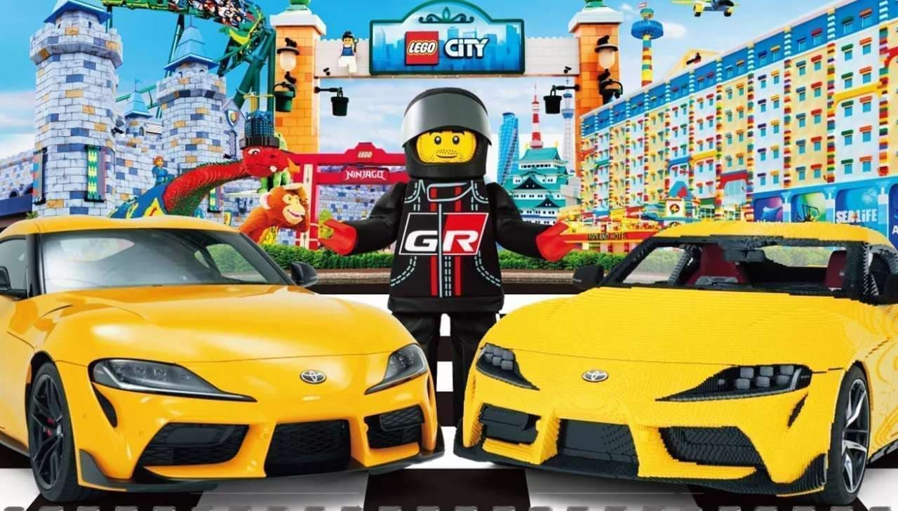 スープラ35周年を記念した「レゴ トヨタ GRスープラ 実物大レプリカ」レゴランドで公開