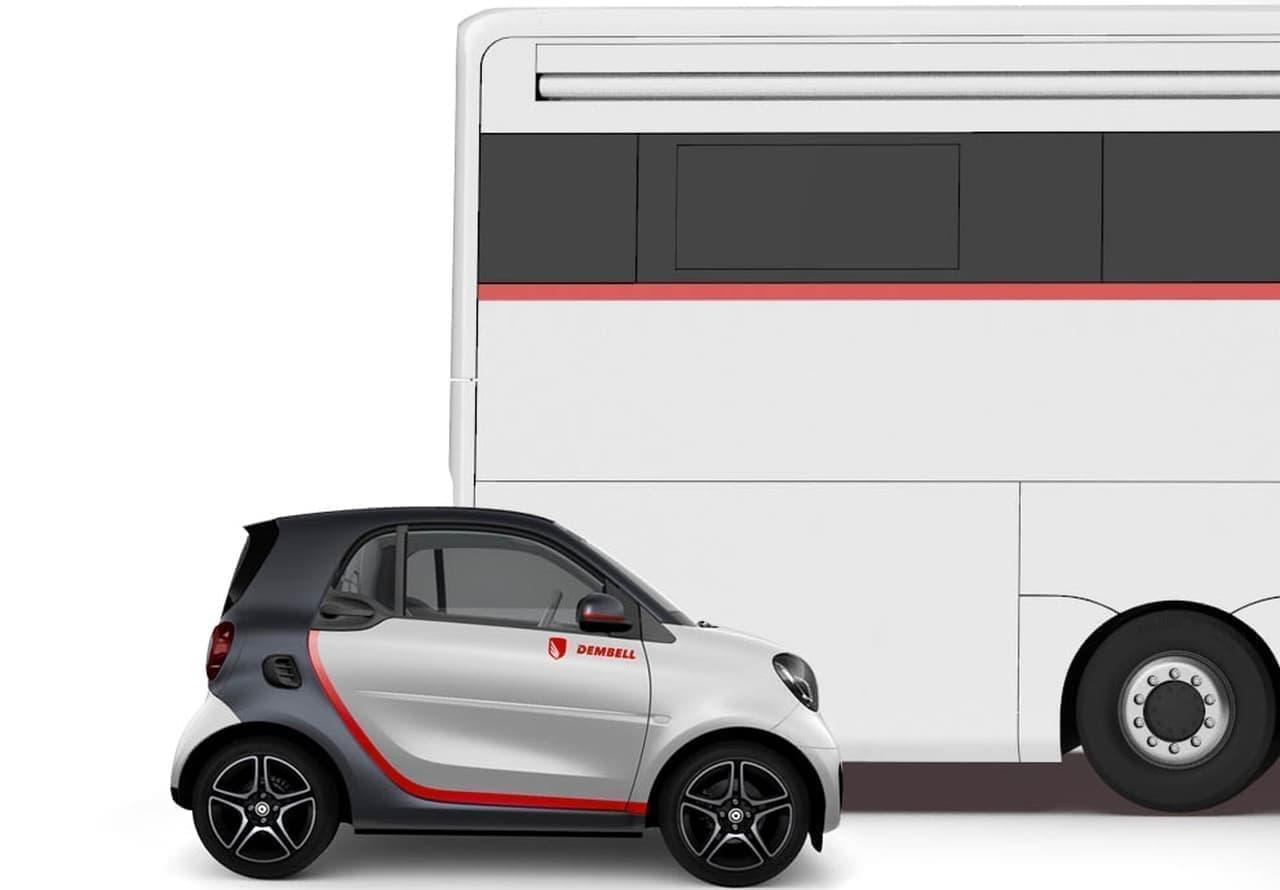 フェラーリを載せて走れるガレージ付きのキャンピングカーDEMBELL「motorhome」