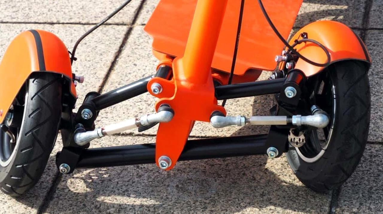 フロント2輪のスポーツ電動バイク「GOGO!R」がMakuakeに登場
