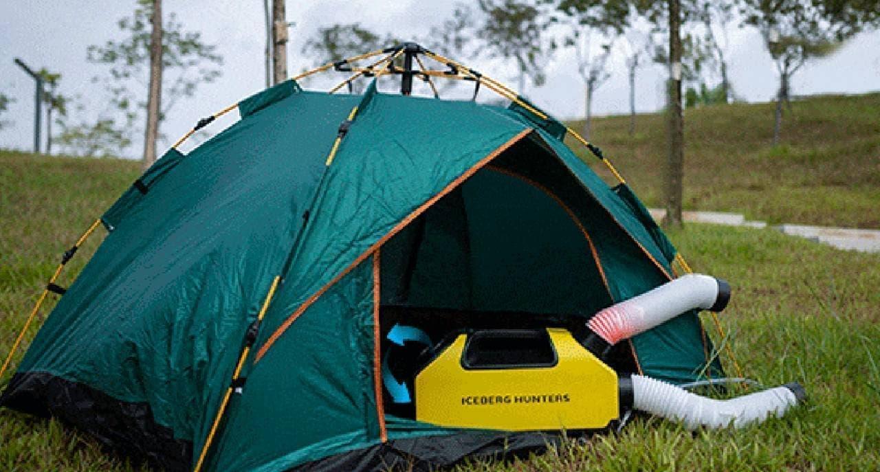 夏のキャンプを涼しく過ごしたい! テント用エアコン「PD360」Makuakeに登場