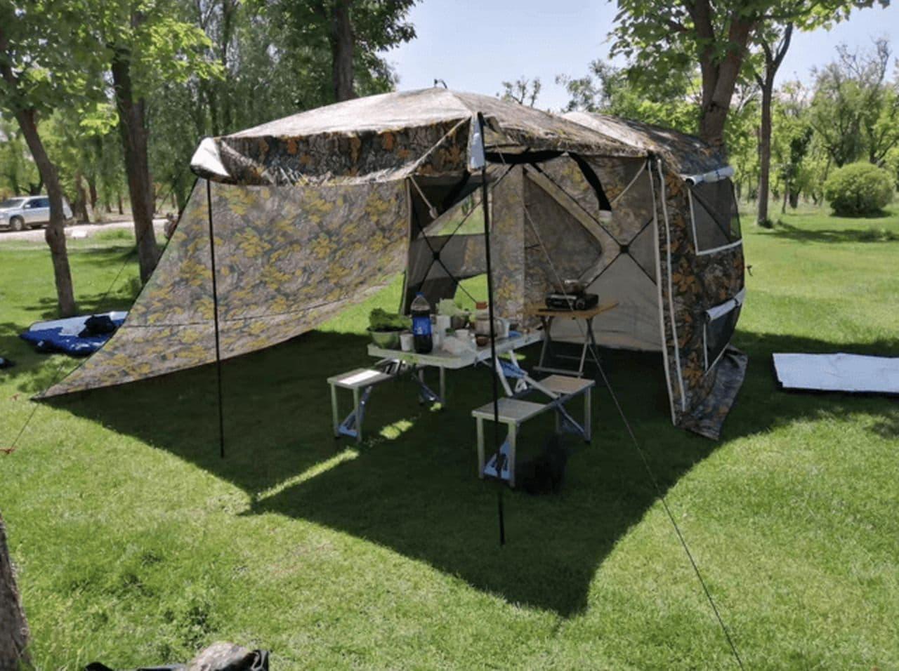 クルマと接続する「車用テント」 Makuakeに登場