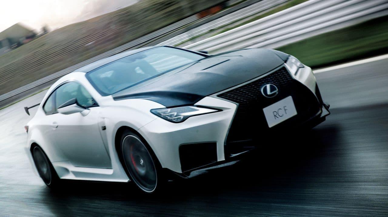 """LEXUS「RC F」マイチェン ― 高性能グレード""""Performance package""""に専用内装色「ブラック&アクセントブルー」新規設定"""