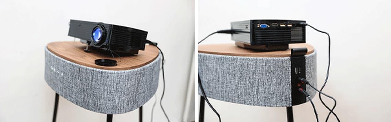 家電ではなくインテリア サイドテーブル型のBluetoothスピーカー「Mellow」