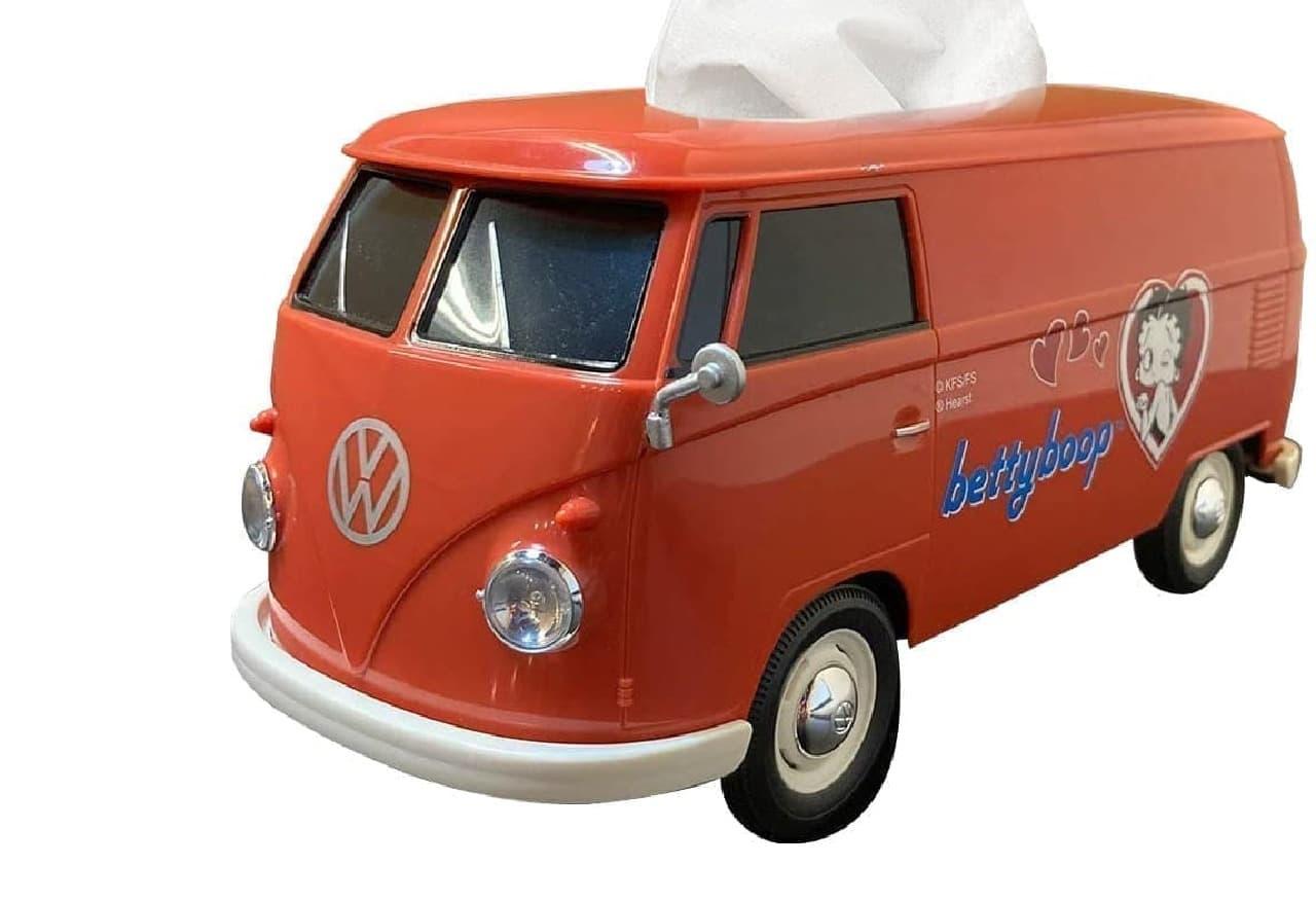 フォルクスワーゲンT1バス型ティッシュケースに「BETTY BOOP」仕様