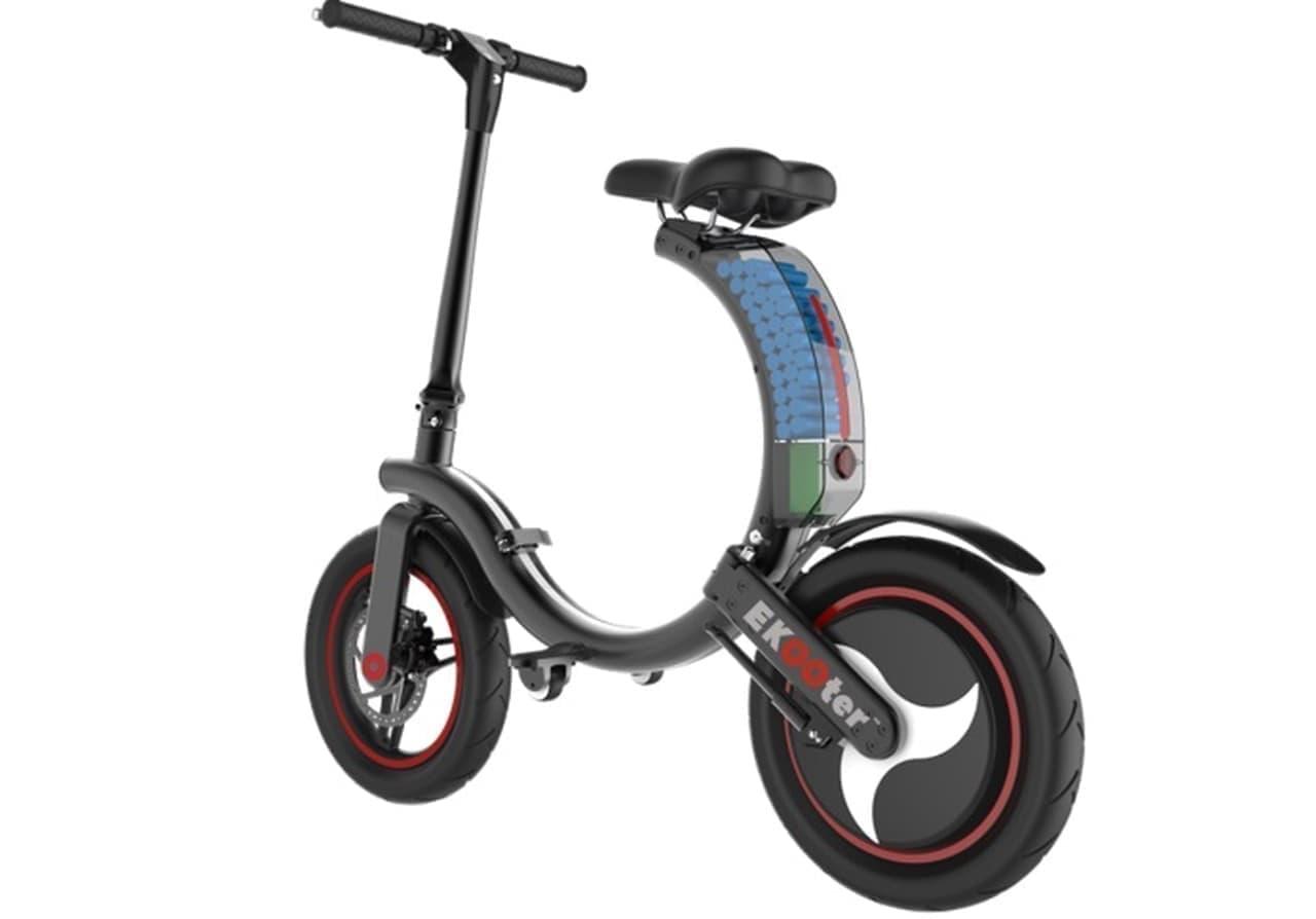 タイヤは丸い だからフレームも丸くした!電動バイク「EKOOter」がIndiegogoに登場