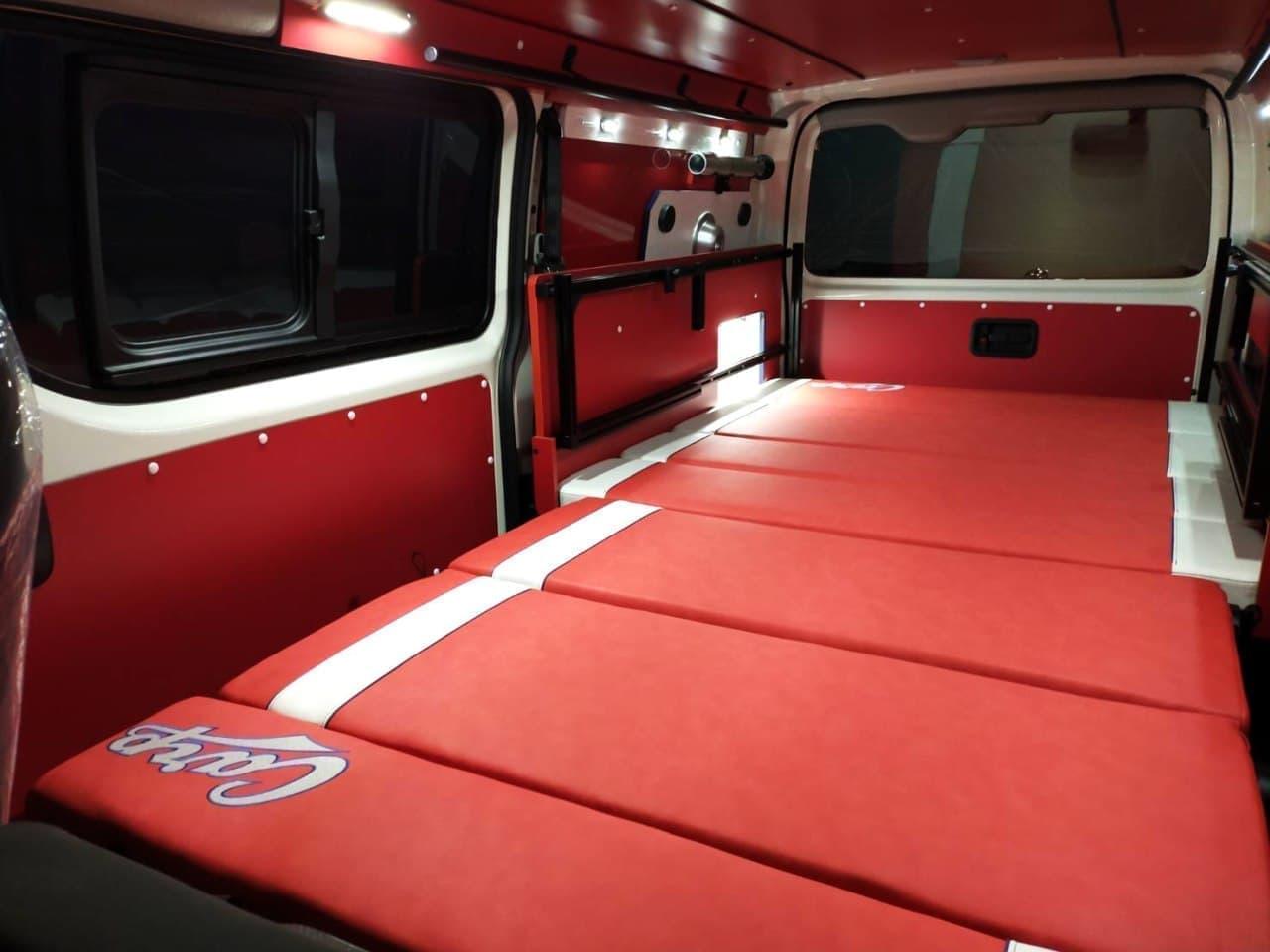 広島カープ承認のキャンピングカー 「ホビクル・ カープ仕様車」