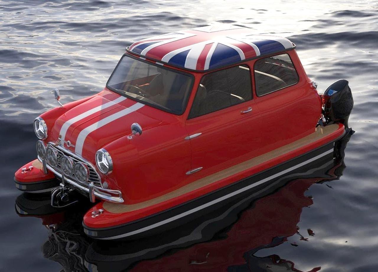 クラシックカーで水上を走る ワーゲンバスやミニ・クーバーをボートにカスタムするFloating Motros
