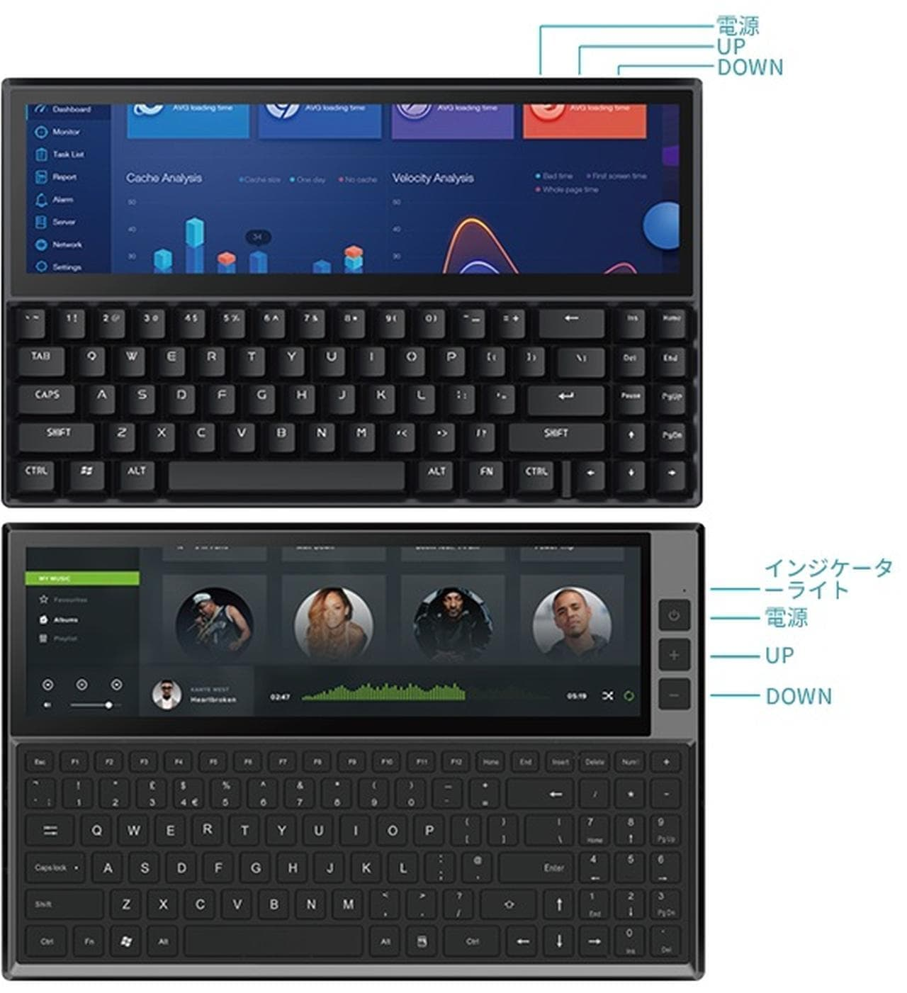 ポケコンみたいなキーボード「FICIHP K1/K2」GREEN FUNDINGに登場