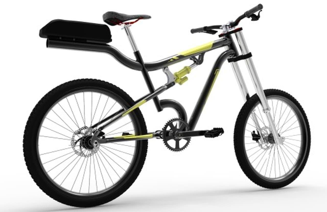 画期的! 手軽に電アシにできる自転車JerZ-E-Bikesの穴あき(?)フレーム