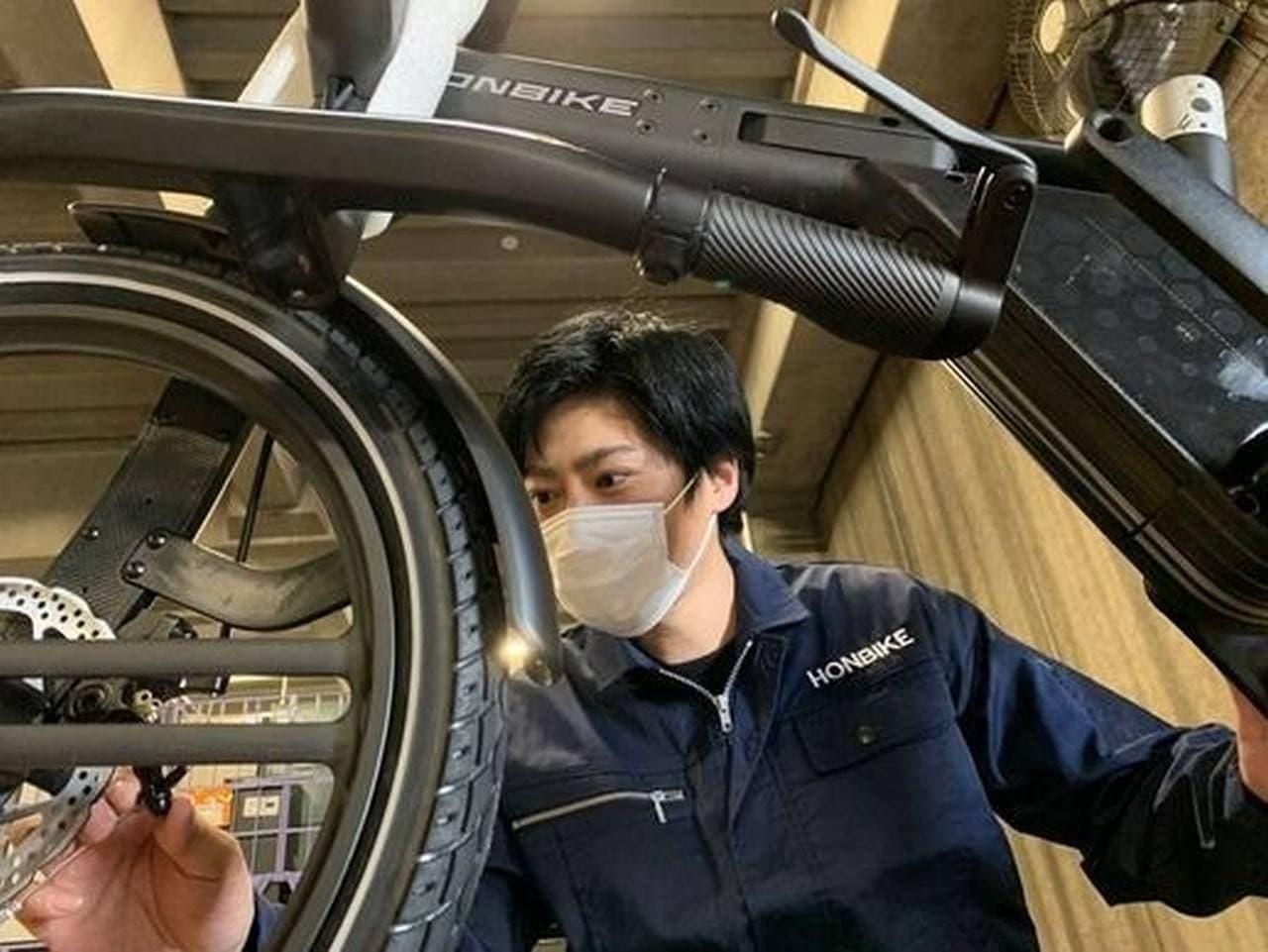 チェーンのない電動アシ「Honbike」に新色「おしゃれ和柄モデル」 Makuakeで先行販売開始