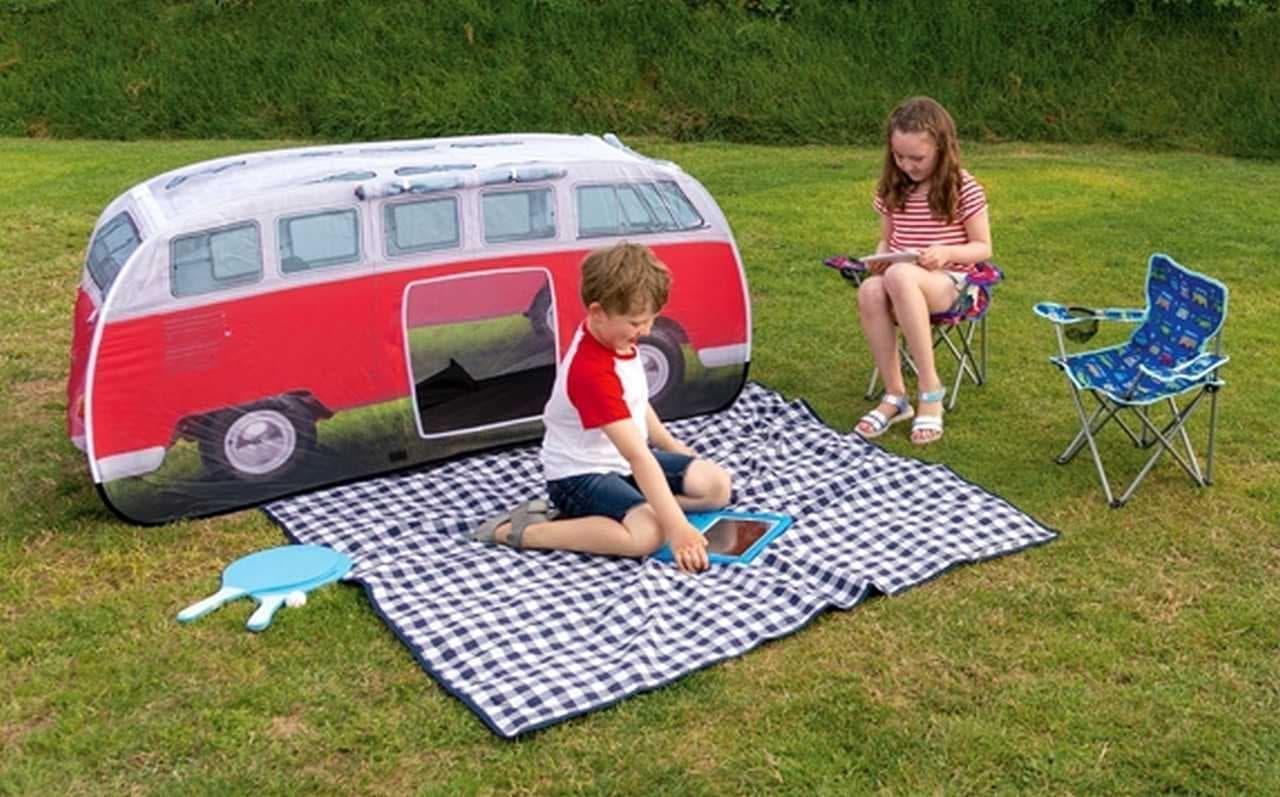 フォルクスワーゲンバス型の子ども用テント「T1バス キッズテント」マイチェン