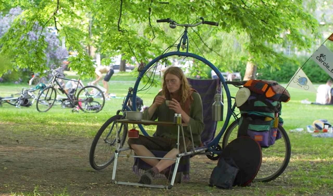 自転車キャンピングカー「Cercle」 重さ3.5kgの「キャンピングコンパニオン」を装備