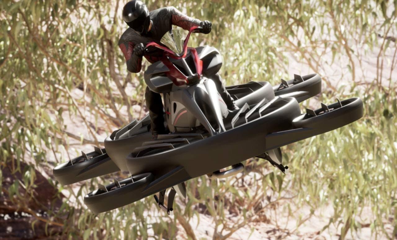 空飛ぶバイク「XTURISMO Limited Edition」が代官山 蔦屋書店に登場「仮面ライダーリバイス」で話題のあのホバーバイク